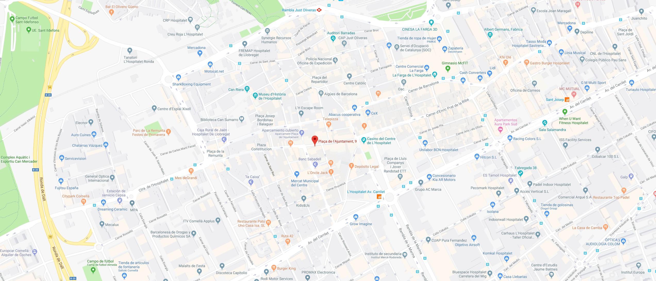Mapa Cerrajeros Hospitalet